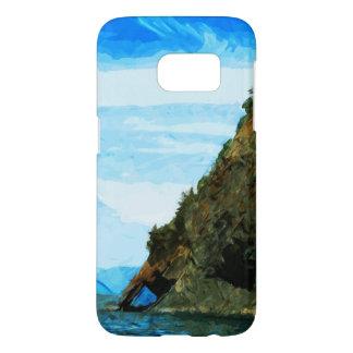 Sewardアラスカの抽象芸術の湾の外 Samsung Galaxy S7 ケース