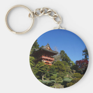 SFの日本のな茶庭の寺院のゲートボタンKeychain キーホルダー