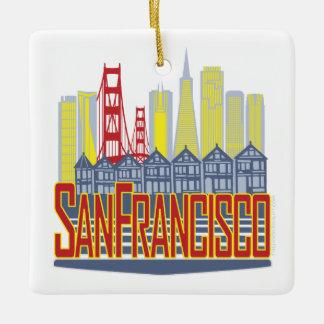 SFの金正方形のオーナメント セラミックオーナメント