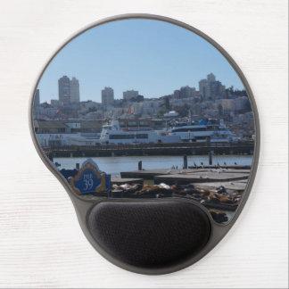 SF都市スカイライン及び桟橋39のアシカのゲルのマウスパッド ジェルマウスパッド