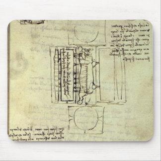 Sforzaの馬のための鋳造ピットのスケッチ マウスパッド
