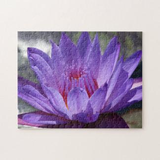 SGの紫色の熱帯《植物》スイレンのパズル#1 2017年 ジグソーパズル