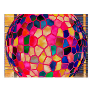 SGの薄赤の白熱[赤熱]光を放つなクリスタル・ボール ポストカード
