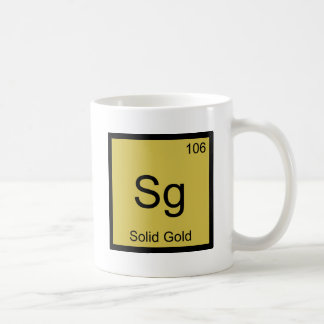 Sg -純金化学要素の記号のTシャツ コーヒーマグカップ
