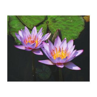 SG 2の紫色の熱帯《植物》スイレンのキャンバス2015年1 キャンバスプリント