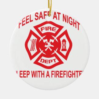 SH消防士のティーとの夜睡眠の感じの金庫 セラミックオーナメント