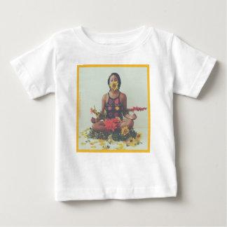 Shaデービスの黙想の花柄 ベビーTシャツ