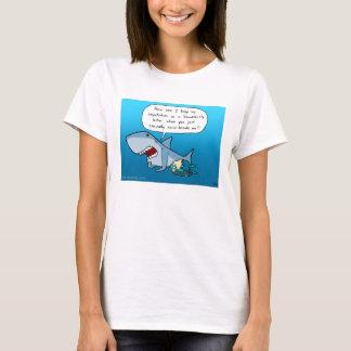 Shaaarkの評判の白のTシャツ Tシャツ