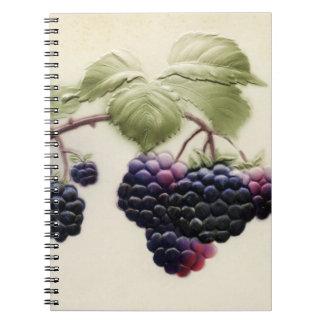 Shab-tasticのヴィンテージのブラックベリーのノート ノートブック