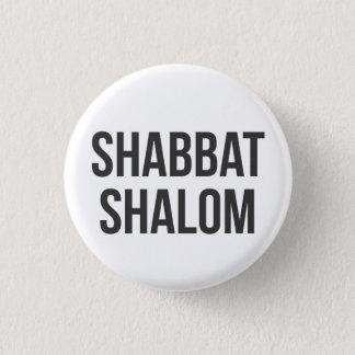 Shabbat Shalomボタン 3.2cm 丸型バッジ