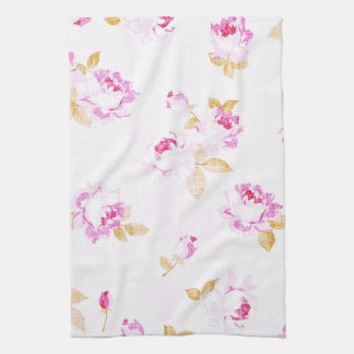 Shabby Chic Pale Pink Rose Kitchen / Bath Towel キッチンタオル