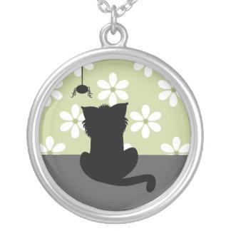 Shaddy猫 シルバープレートネックレス