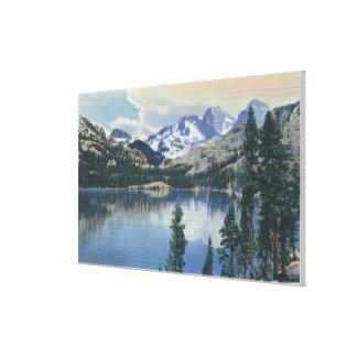 shadow湖、シエラネバダ山脈山の眺め キャンバスプリント
