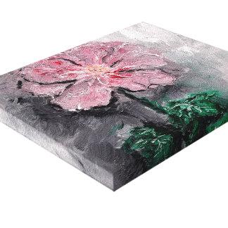 Shadowed Petals Oil Canvas Print