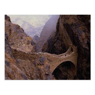 Shahara橋、9000フィートの溝、イエメン ポストカード