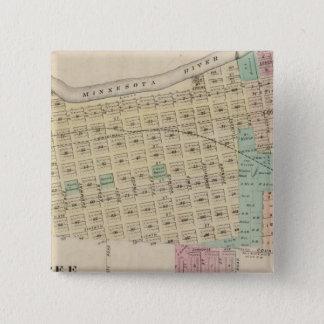 Shakopee、スコット郡、ミネソタ 5.1cm 正方形バッジ
