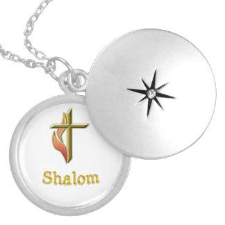 Shalomのギフト シルバープレートネックレス