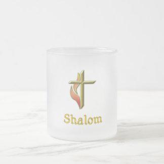 Shalomのギフト フロストグラスマグカップ
