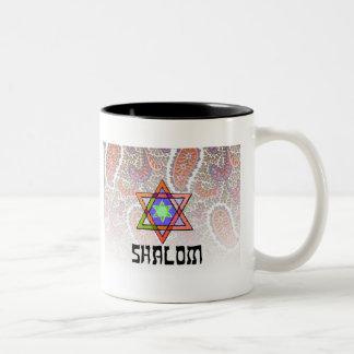 Shalomのピンクのペイズリー ツートーンマグカップ