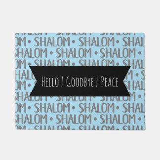 Shalomの繰り返しパターン ドアマット
