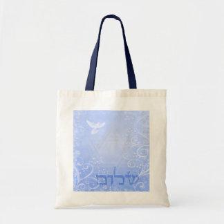 Shalomの鳩の青い渦巻のバッグ トートバッグ