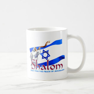 SHALOMはエルサレムの平和のために祈ります コーヒーマグカップ