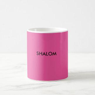 Shalomは平和のためのもう一つの単語です コーヒーマグカップ