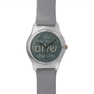 Shalomカスタムな色の腕時計で私がありました 腕時計