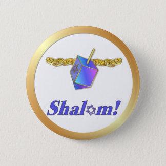 Shalomハヌカー 5.7cm 丸型バッジ