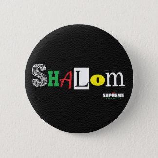 Shalomボタン(黒か三) 5.7cm 丸型バッジ