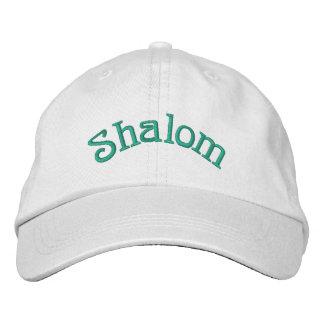 Shalom 刺繍入りキャップ