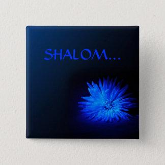 SHALOM 宗教ボタン 5.1CM 正方形バッジ