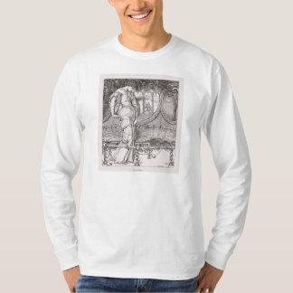 Shalottのクラシックな女性はくもの巣でもつれました Tシャツ