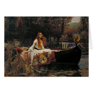 Shalottのジョン・ウィリアム・ウォーターハウス、女性 カード