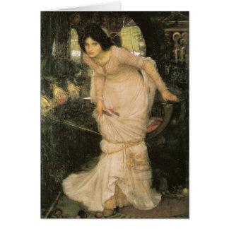 Shalottの女性-ジョン・ウィリアム・ウォーターハウス カード
