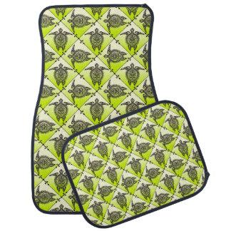 Shamanicのウミガメパターン-緑 カーマット