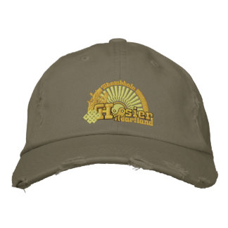 Shambhalaのインディアナ州民の心臓地帯の帽子 刺繍入りキャップ