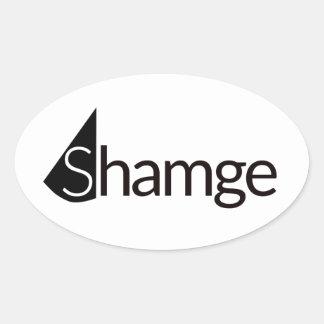 Shamgeのステッカー 楕円形シール