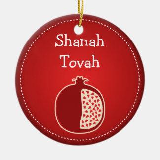 Shanah Tovah Rosh Hashanahのユダヤ人の新年 セラミックオーナメント