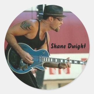 Shaneドゥワイトのステッカー ラウンドシール