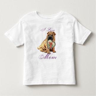Shar-Peiのハートのお母さん トドラーTシャツ