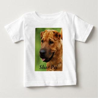 Shar Pei犬の乳児のワイシャツ ベビーTシャツ