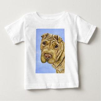 Shar Pei犬の芸術- 《植物》アスペン ベビーTシャツ