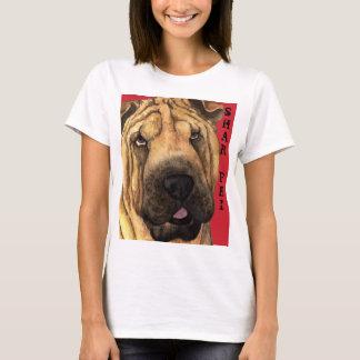 Shar-Pei色のブロック Tシャツ