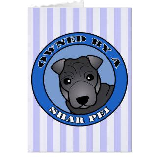 Shar Pei -青いコート著所有される-青 カード