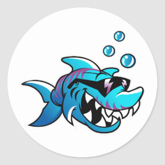 Shark, Meet Me at the Beach, Funny, ラウンドシール