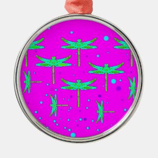 SHARLESによってアクアマリンのトンボの紫色に夢を見ること メタルオーナメント
