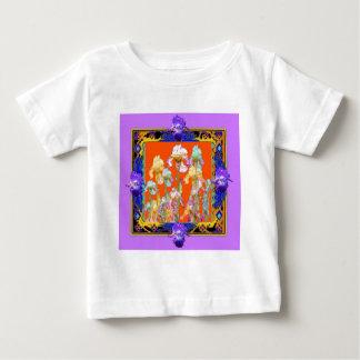 sharlesによる華やかに薄紫によって組み立てられるアイリス庭 ベビーTシャツ