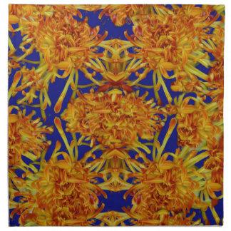 Sharlesの芸術による青いギフトの金くものミイラ ナプキンクロス