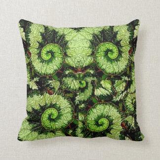 Sharles著かたつむりの葉のベゴニアの枕 クッション